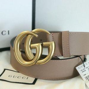 Gucci women's belt dusty pink